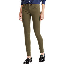 Buy Polo Ralph Lauren Sateen Skinny Jeans, Olive Online at johnlewis.com