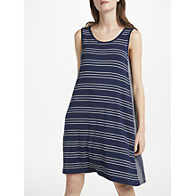 Buy Max Studio Sleeveless Striped Jersey Dress, Navy/Ivory Online at johnlewis.com