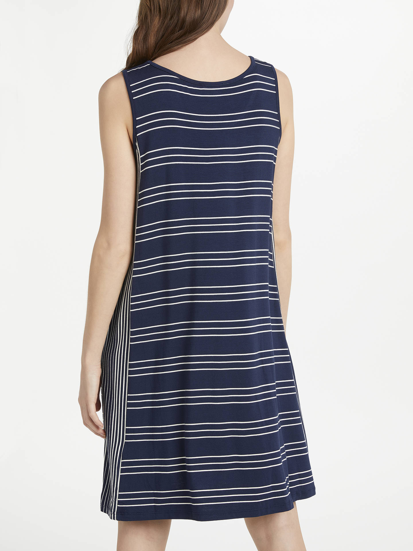 BuyMax Studio Sleeveless Striped Jersey Dress, Navy/Ivory, XS Online at johnlewis.com