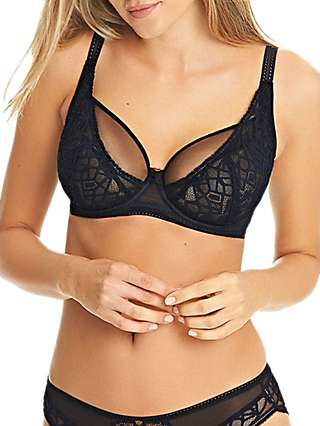 Freya Soiree Lace High Apex Balcony Bra, Black