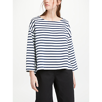 Kin by John Lewis Drop Shoulder Stripe Breton Top