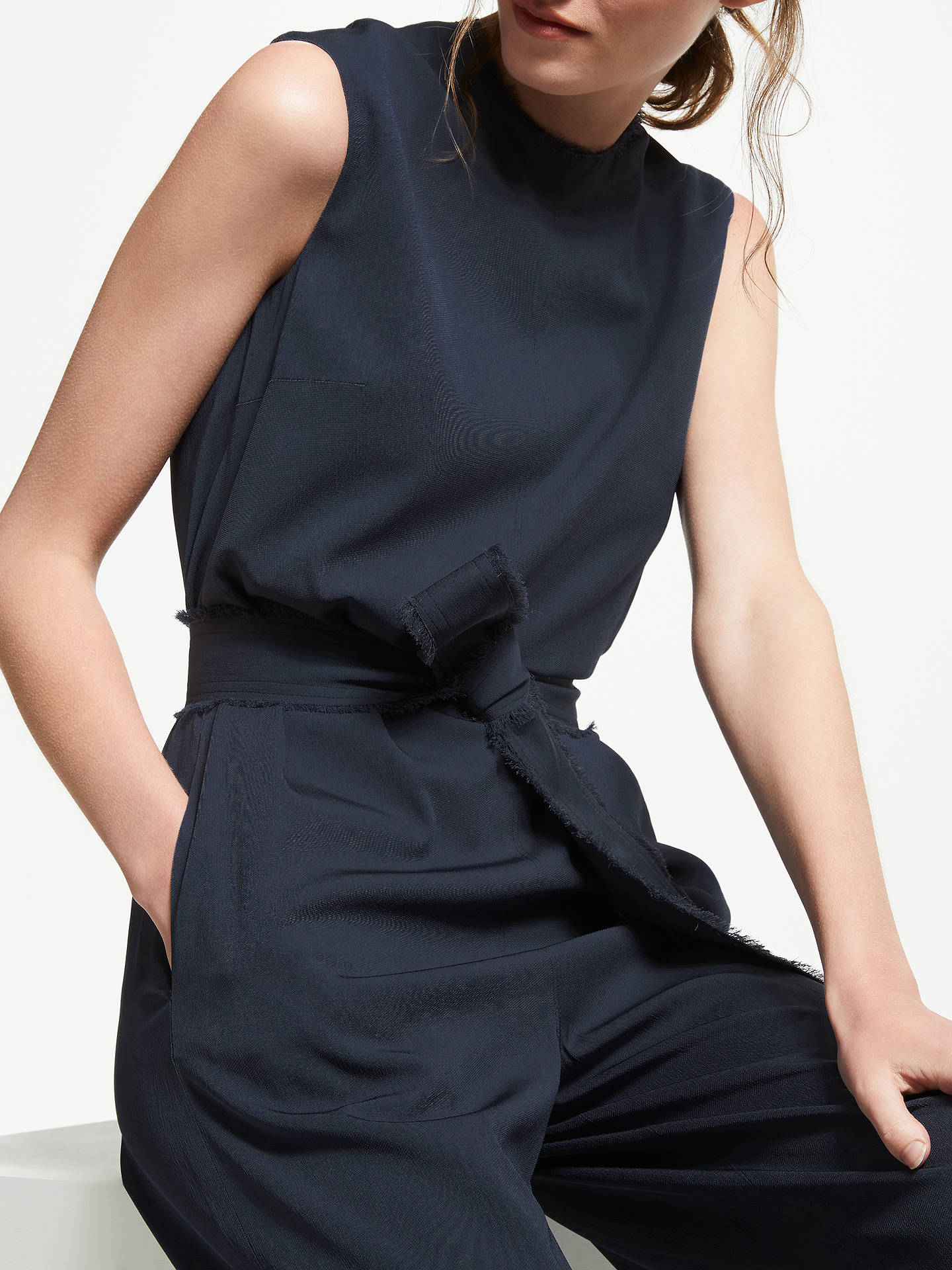 Buy Modern Rarity Relaxed Jumpsuit, Blue Steel, 8 Online at johnlewis.com