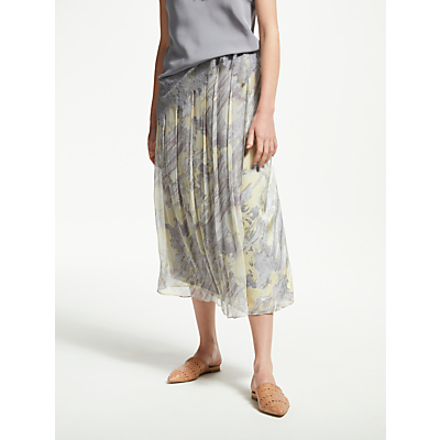 Modern Rarity Double Layer Watercolour Skirt, Light Slate