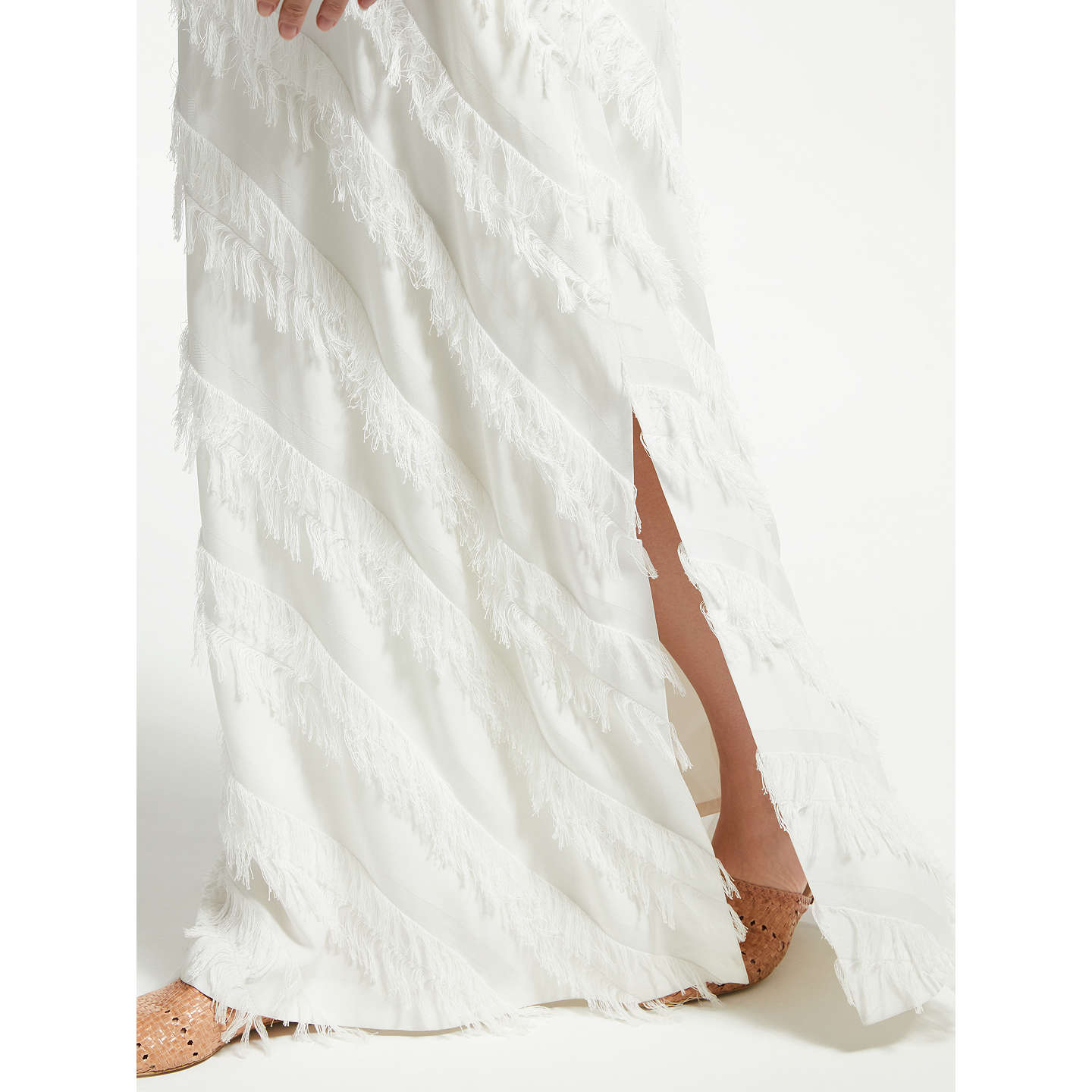 BuyModern Rarity Long Frayed Dress, Cream, 8 Online at johnlewis.com