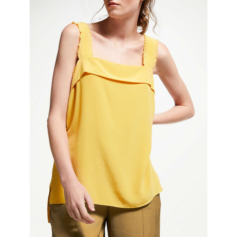Modern Rarity Silk Frayed Strap Cami, Buttercup by Modern Rarity