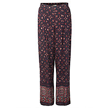 Buy East Ajrak Print Trousers, Indigo Online at johnlewis.com