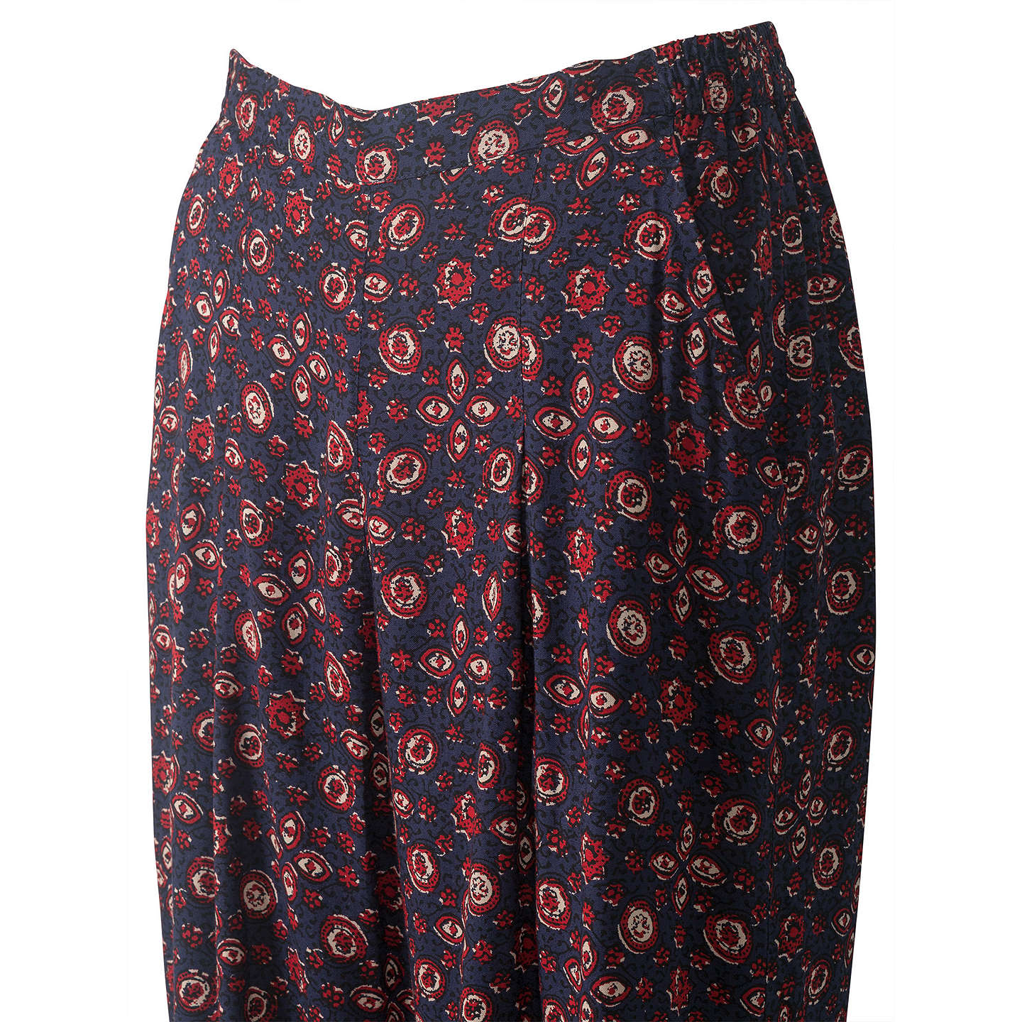 BuyEast Ajrak Print Trousers, Indigo, S Online at johnlewis.com
