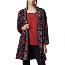 Buy East Ajrak Print Kantha Coat, Indigo Online at johnlewis.com