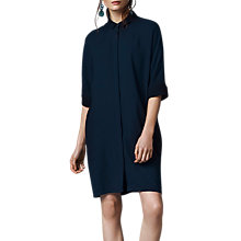 Buy East Crepe Oversized Dress, Indigo Online at johnlewis.com