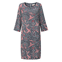 Buy East Silk Bali Print Dress, Indigo Online at johnlewis.com