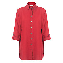 Buy East Oversized Linen Shirt, Red Online at johnlewis.com