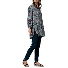 Buy East Bali Print Silk Shirt, Indigo Online at johnlewis.com