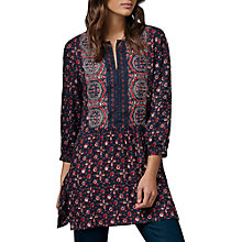 Buy East Ajrak Print Tunic, Indigo Online at johnlewis.com