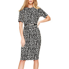 Buy Damsel in a Dress Anka Belted Jacquard Dress, Neutral/Black Online at johnlewis.com