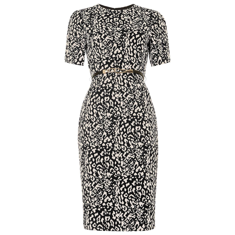 Damsel In A Dress Kelsie Dress Black At John Lewis: Damsel In A Dress Anka Belted Jacquard Dress, Neutral