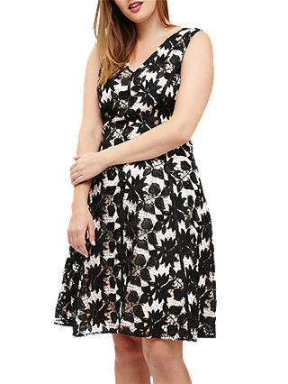 Buy Studio 8 Bay Lace Dress, Black/Multi, 12 Online at johnlewis.com