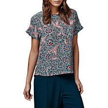 Buy East Silk Bali Print Top, Indigo Online at johnlewis.com