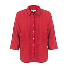 Buy East Pintuck Detail Pocket Shirt, Red Online at johnlewis.com