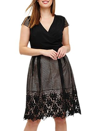 Studio 8 Romola Dress, Black/Blush