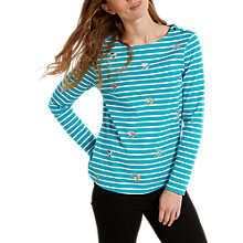 Buy White Stuff Birdie Stripe Jersey T-shirt, Marine Blue Online at johnlewis.com