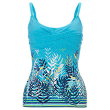 Buy White Stuff Bright Skies Tankini Top, Aqua Blue Online at johnlewis.com