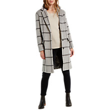 Buy White Stuff Bala Check Coat, Silver Grey Online at johnlewis.com