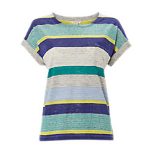 Buy White Stuff Ellen Stripe Jersey T-Shirt, Multi Online at johnlewis.com
