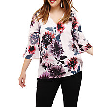 Buy Studio 8 Phoebe Floral Print Top, Pink/Multi Online at johnlewis.com