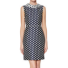 Buy Gina Bacconi Angelica Spot Dress, Navy/White Online at johnlewis.com