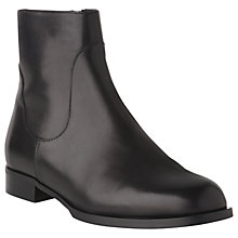 Buy L.K. Bennett Loti Block Heeled Ankle Boots, Black Leather Online at johnlewis.com