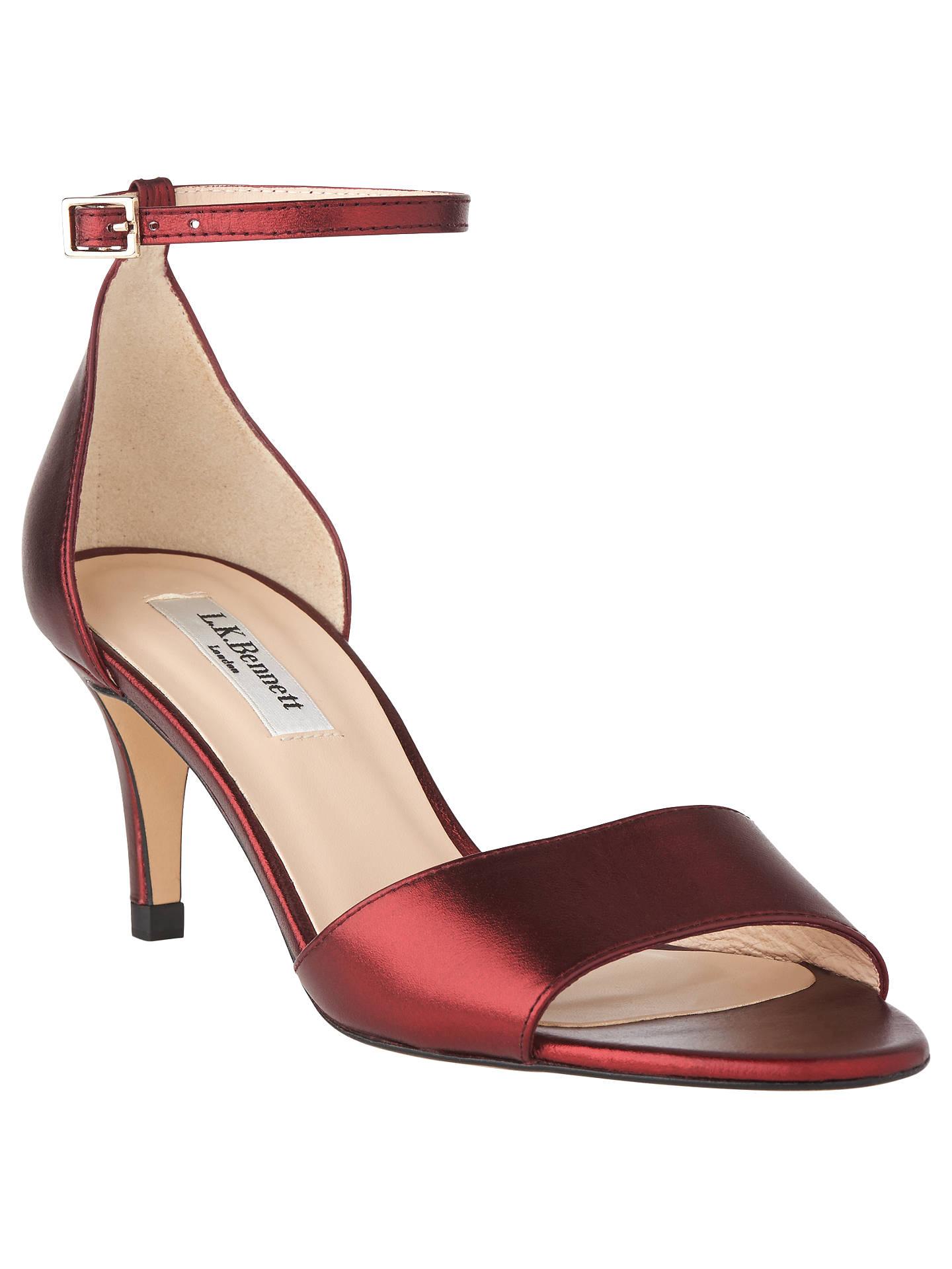 c26a79440f538a L.K. Bennett Omya Stiletto Heeled Sandals at John Lewis   Partners