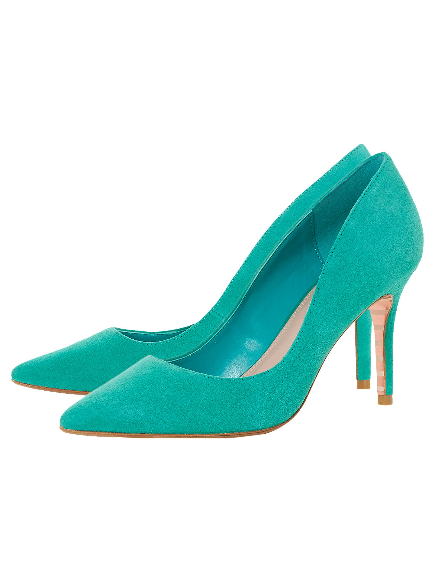 BuyDune Aurrora Pointed Toe Court Shoes, Green Suede, 5 Online at johnlewis.com
