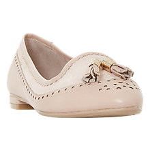 Buy Dune Gambie Leather Loafers, Blush Online at johnlewis.com