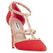 Buy Dune Daenerys Studded Cut Out Court Shoes, Orange Reptile Leather Online at johnlewis.com