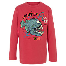 Buy Fat Face Boys' Glow-in-the-Dark Lighten Up T-Shirt, Red Online at johnlewis.com
