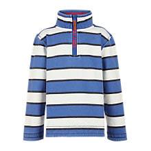 Buy Fat Face Boys' Jamie Stripe Half Neck Jumper Online at johnlewis.com