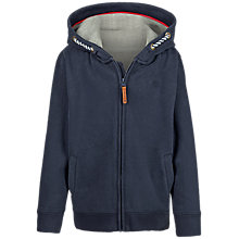 Buy Fat Face Boys' Zip Through Graphic Hooded Sweatshirt, Navy Online at johnlewis.com