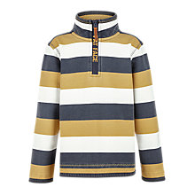 Buy Fat Face Boys' Jamie Stripe Half Neck Jumper, Ochre Online at johnlewis.com