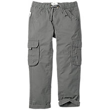 Buy Fat Face Boys' Padstow Cargo Trousers, Charcoal Online at johnlewis.com