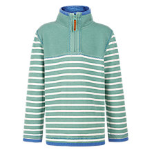 Buy Fat Face Boys' Mini Stripe Airlie Half Zip Jumper Online at johnlewis.com