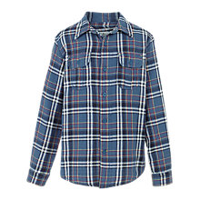 Buy Fat Face Boys' Bramber Check Shirt, Slate Blue Online at johnlewis.com
