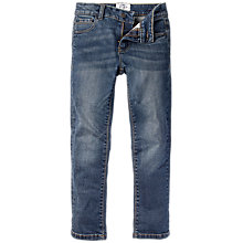 Buy Fat Face Boys' Dark Wash Slim Jeans, Blue Online at johnlewis.com
