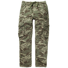 Buy Fat Face Boys' Camouflage Print Cargo Trousers, Green Online at johnlewis.com