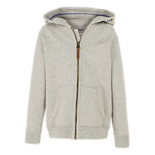 Buy Fat Face Boys' Plain Zip Through Hoodie Online at johnlewis.com
