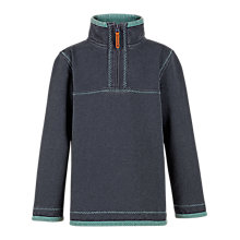 Buy Fat Face Boys' Mini Airlie Plain Half Zip Jumper Online at johnlewis.com