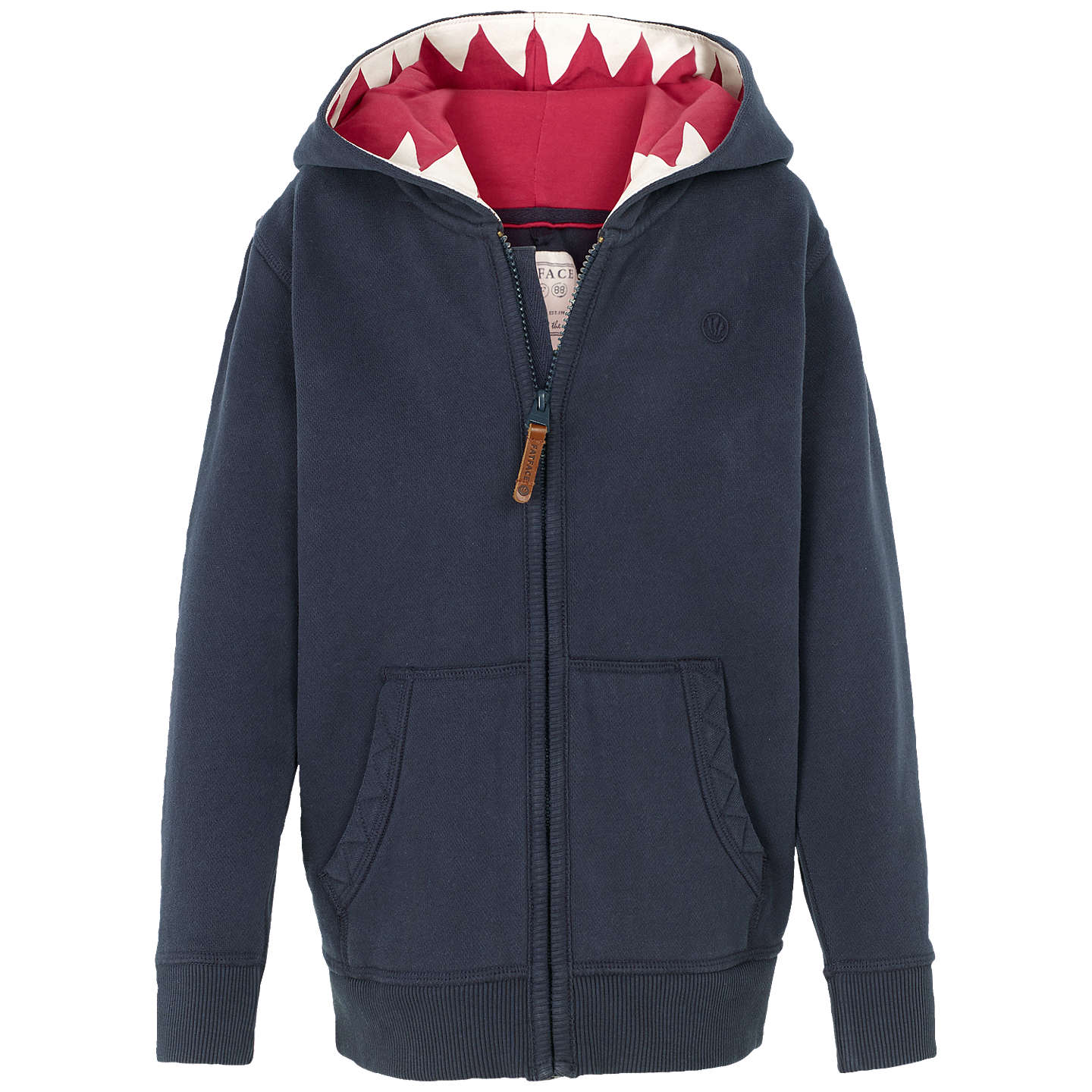 Fat Face Boys' Shark Tooth Hoodie, Navy by Fat Face