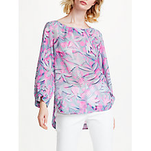 Buy Marc Cain Printed Tunic Blouse, Grey Online at johnlewis.com