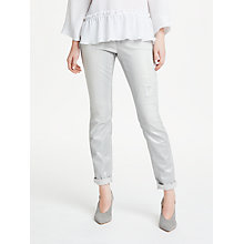 Buy Marc Cain Distressed Jean, Metallic Grey Online at johnlewis.com