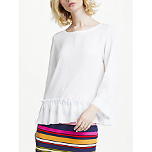 Buy Marc Cain Frill Top, White Online at johnlewis.com