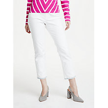 Buy Marc Cain Contrast Hem Flared Jeans, White Online at johnlewis.com